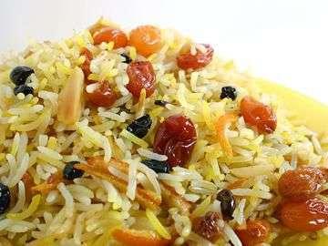 arroz com passas