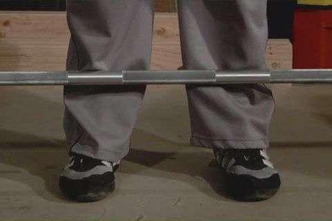 posicionamento dos pés durante a execução do terra