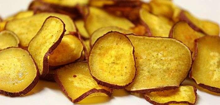 Receita de chips de batata doce para quem faz musculação