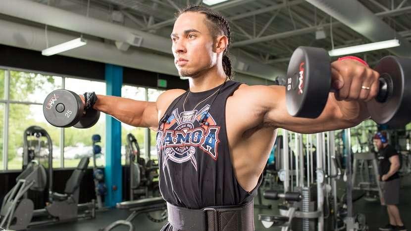 exercícios para ombro levantamento