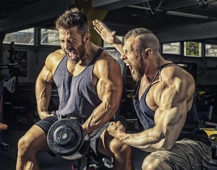 treinando com parceiro de treino