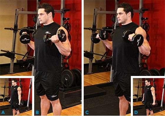 rosca zottman para trabalhar o bíceps e antebraços
