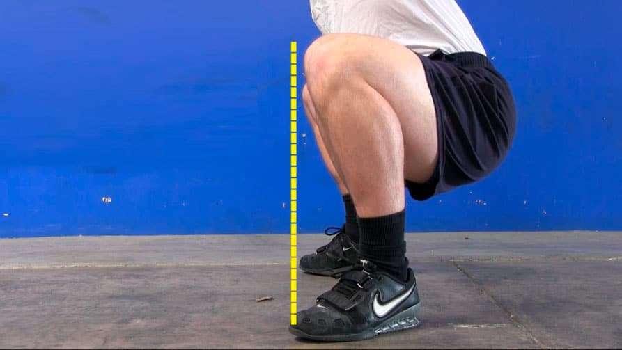 posicionamento dos pés durante o agachamento livre