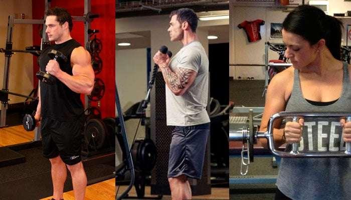 rosca martelo para bíceps e suas variações
