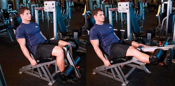 execução correta do exercício cadeira extensora