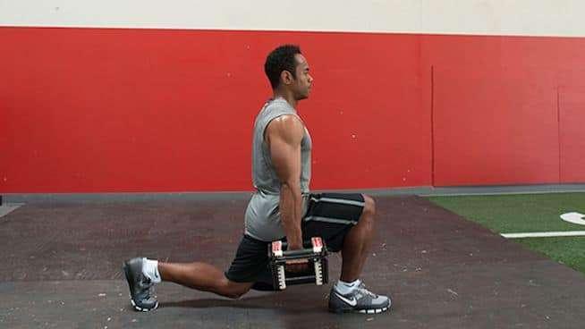 Exercício a fundo para quadríceps