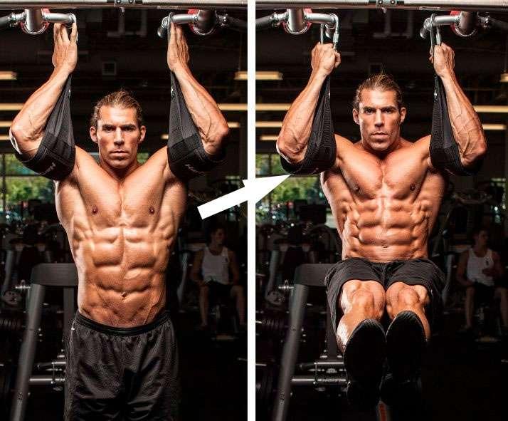 Suportes de braço para realizar abdominal suspenso na barra