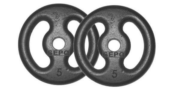 Jogo de anilhas de ferro para treinar em casa