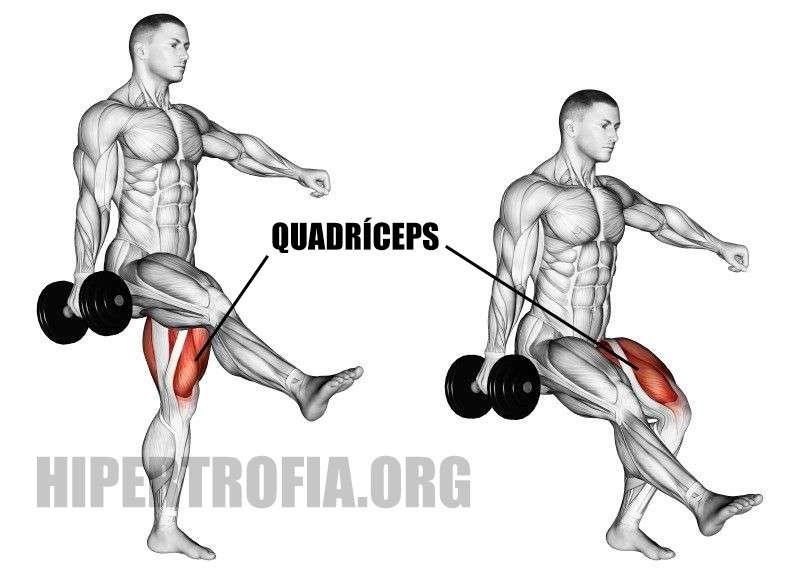 músculos recrutados durante o agachamento unilateral (pistol squat)