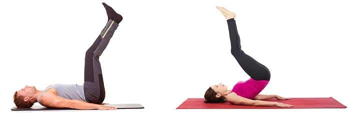 abdominal invertido com pernas estendidas, com ou sem elevação pélvica