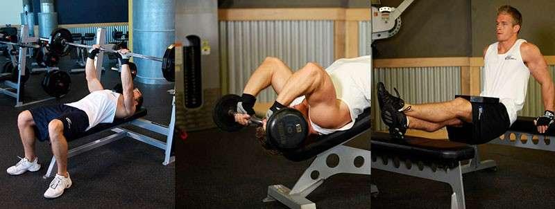 treino tri-set para tríceps