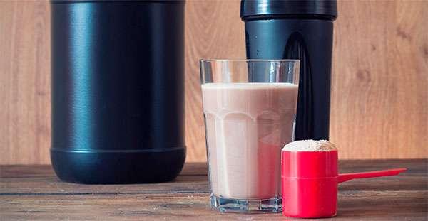 shake de proteína em pó