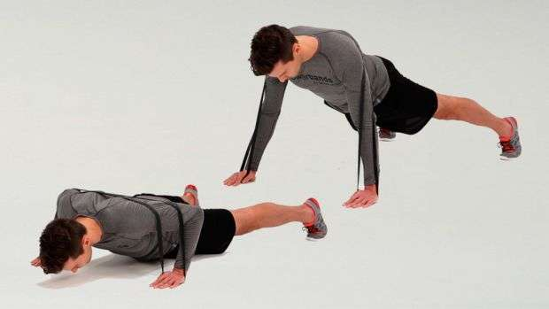flexão usando faixa de resistência