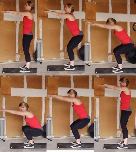 execução do agachamento com peso do corpo