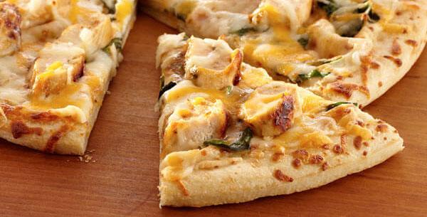 receita de pizza de frango proteica