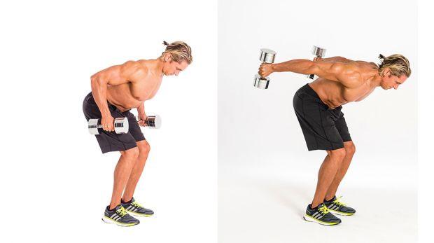 execução do tríceps coice