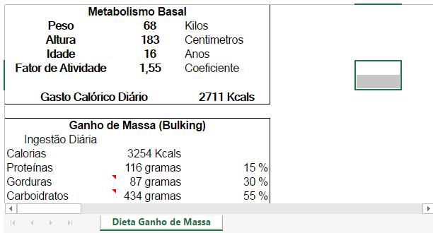 dieta de 2500 calorias para ganho de massa muscular