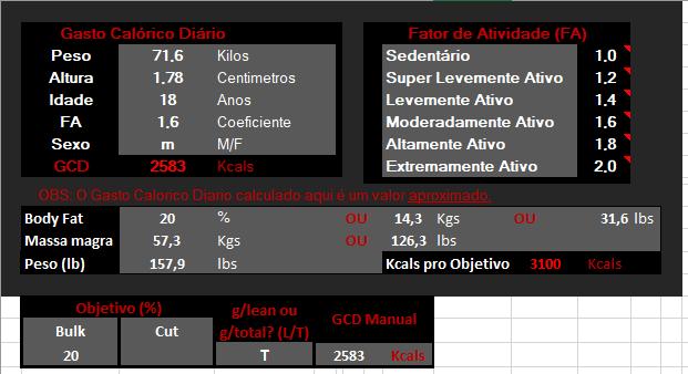 dieta massa 3100 kcal